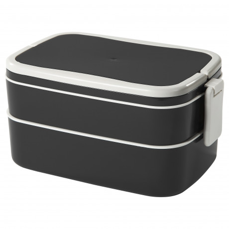 Контейнер для завтрака ФЛОТТИГ черный, белый фото 0